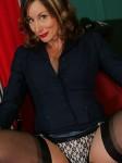 Horny older secretary in stockings – featuring Abigail Fraser